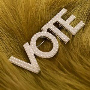 VOTE pearl pin